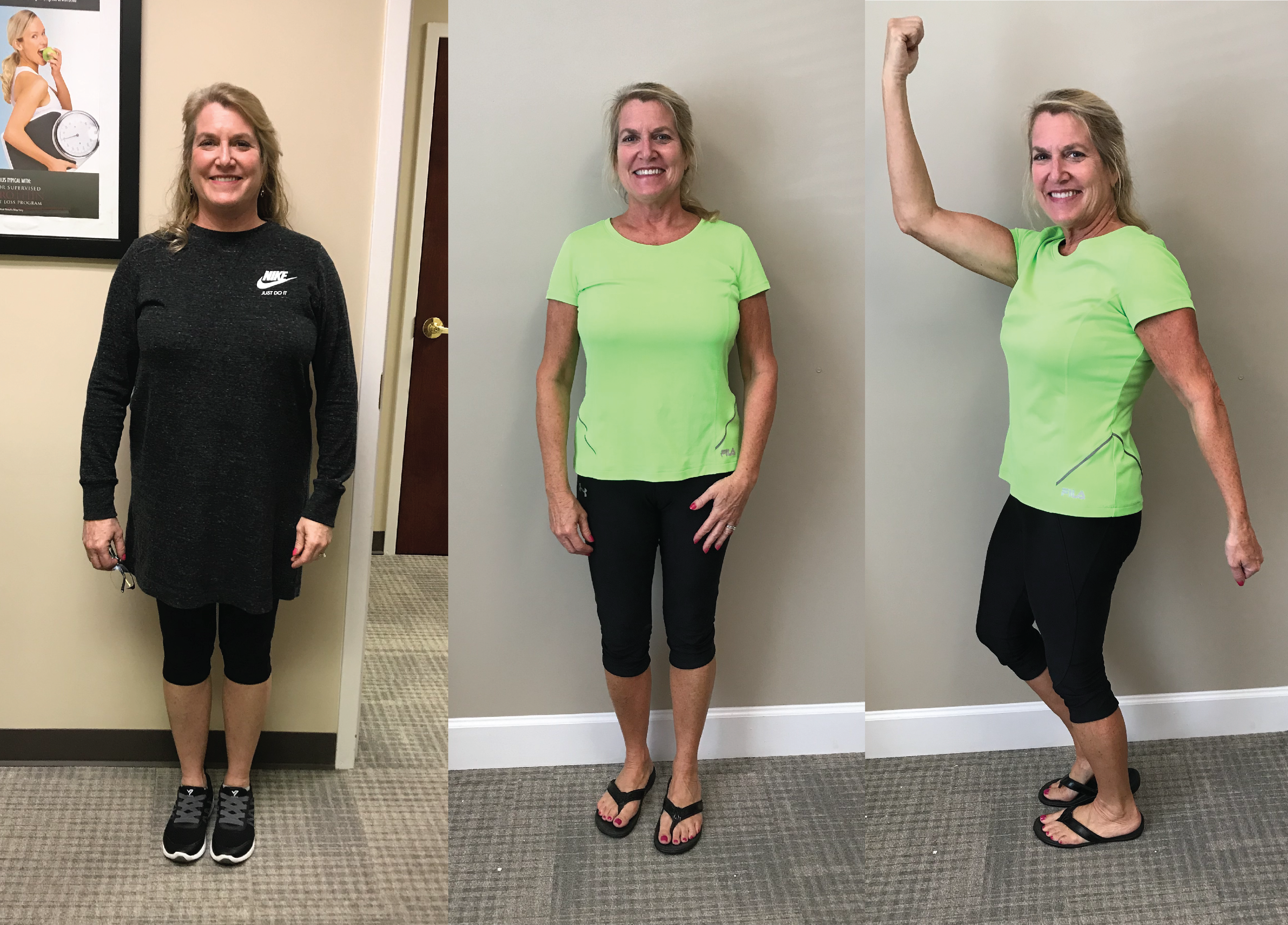 Amy lost 27 pounds and 20 inches